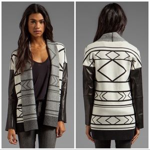 Twelfth By Cynthia Vincent Leather Cabin Cardigan